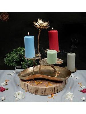 Designer Sunflower and Lotus Leaf Lamp