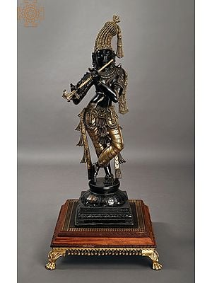 """35"""" Superfine Standing Krishna with Fascinating Crown 