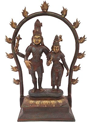 Standing Lord Shiva with Parvati