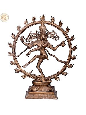 "18"" Nataraja | Handmade | Madhuchista Vidhana (Lost-Wax) | Panchaloha Bronze from Swamimalai"