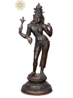 "25"" Ardhanarishvara | Handmade | Madhuchista Vidhana (Lost-Wax) | Panchaloha Bronze from Swamimalai"