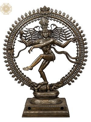 "Superfine 80"" Large Nataraja | Handmade | Madhuchista Vidhana (Lost-Wax) | Panchaloha Bronze from Swamimalai | Made In India"
