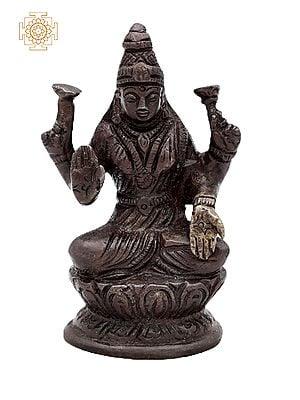 "3"" Small Goddess Lakshmi Statue | Handmade |  Lakshmi Brass Statue | Goddess of Money | Made in India"