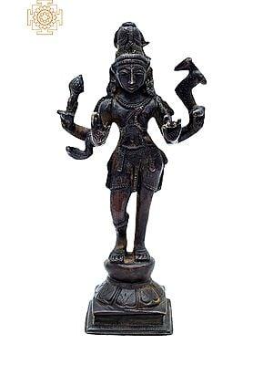 "6.5"" Lord Shiva as Pashupatinath | Handmade | Lord Pashupatinath Brass Statue | Made in India"