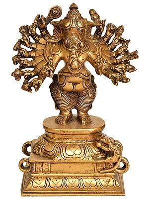 Sixteen-Armed Vira-Ganesha