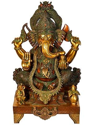 Large Size Lord Ganesha in Ekadanta Manifestation