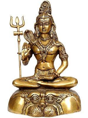 Mahayogi Shiva Granting Abhaya