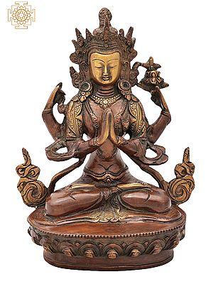 Tibetan Buddhist Deity Chenrezig (Shadakshari Lokeshvara) - Most Popular Deity of Tibet