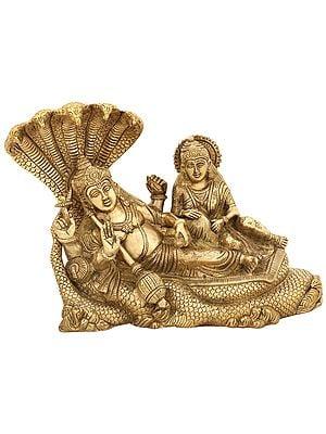 Sheshasayi Vishnu with Lakshmi
