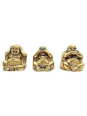 Teaching of Ignoring the Evil (Laughing Buddha Trinity)