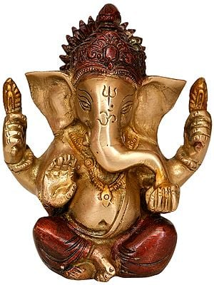 Lord Ganesha Eating Modak