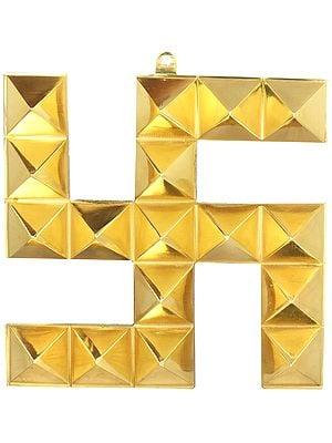 Seventeen Vastu Pyramids Swastik Wall Hanging