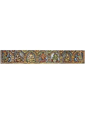 Five Musical Ganesha Panel