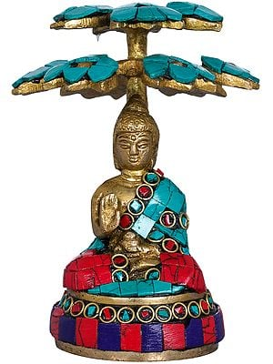 Small Size Buddha Under Tree -Tibetan Buddhist