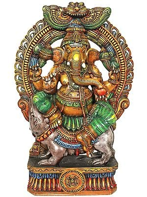 Lord Ganesha Seated On His Vahana - Large Size