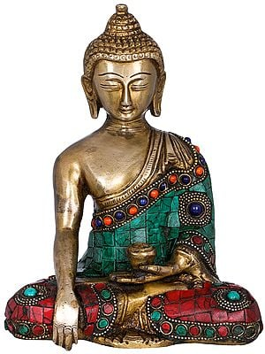 Tibetan Buddhist Lord Buddha in Earth Touching Gesture