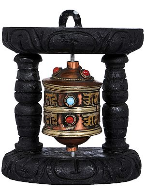 Small Tibetan Buddhist Prayer Wheel - Made in Nepal