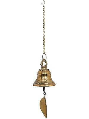 Bell With Leaf - Tibetan Buddhist