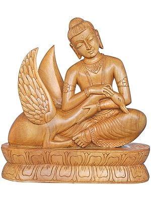 Siddharta Nursing The Wounded Swan  - Tibetan Buddhist