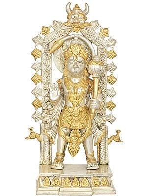 Standing Hanuman With Kirtimukha Prabhavali