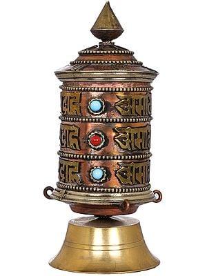 Tibetan Buddhist Prayer Wheel - Made in Nepal