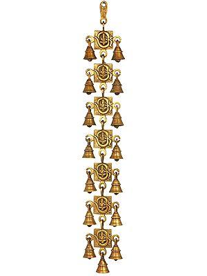 Ganesha in OM Wall Hanging Bells