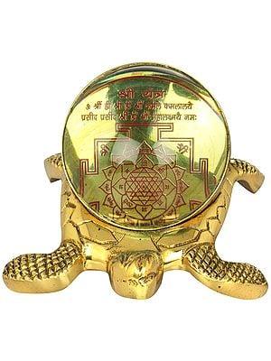 Shri Yantra On Tortoise For Vastu (Shri Kurma Yantra)