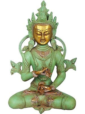 Tibetan Buddhist Bodhisattva Deity Vajrasattva - Holder of Thunderbolt and Bell