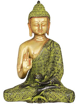Tibetan Buddhist Lord Buddha in Preaching Gesture
