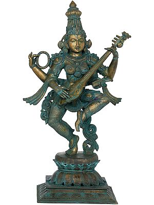 Motioning In Dance, The Veenavadini Devi Sarasvati