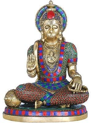 Bhakt Hanuman in Abhaya Mudra