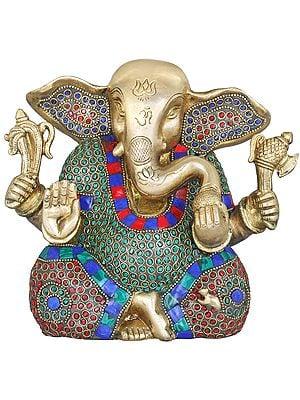 Ganesha Enjoying Modak