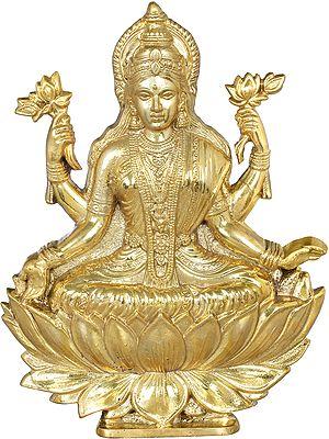 Goddess Lakshmi Altar Piece  - Flat Statue