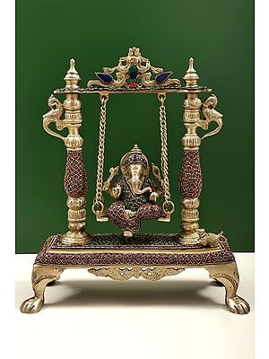 Lord Ganesha On a Swing