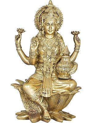 Goddess Lakshmi With The Wealth Pot