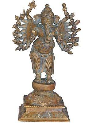 Sixteen Armed Ganesha