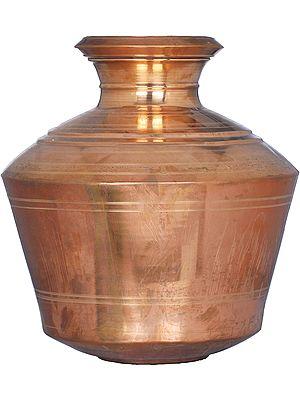 Large Copper Pooja Kalasha