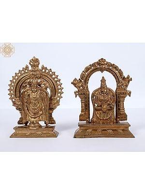 Lord Venkateswara as Balaji At Tirupati With Goddess Lakshmi