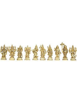 Dashavatara - Ten Incarnations of Lord Vishnu (Small Size)