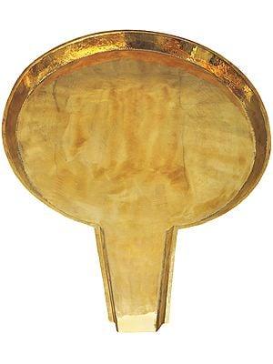 Large Size Circular Abhisheka Patra
