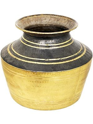Large Brass Vessel For Cooking And Storage