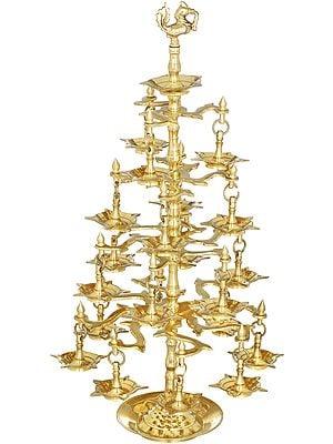Peacock Lamp (With Twenty Lamps)