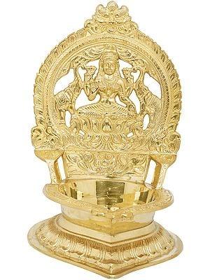Large Gajalakshmi Lamp
