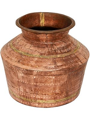 Large Copper Puja Kalasha