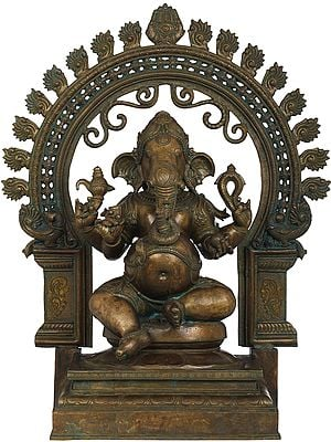 Chaturbhuja Ganesha in Bronze