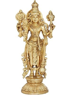 Four Armed Standing Lord Vishnu
