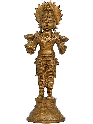Surya Bhagawan Holding Two Lotuses