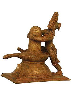 The Adoration Of Shiva Linga by Devi Parvati