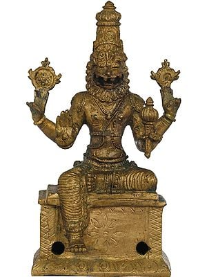 Lord Vishnu in His Ferocious Manifestation as Narasimha