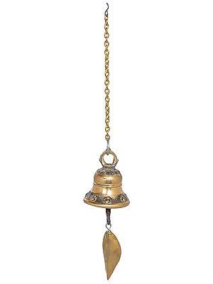 Tibetan Buddhist Bell With Leaf